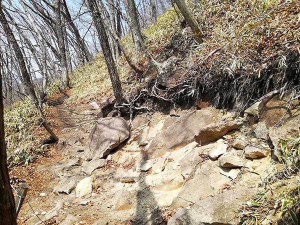 榛名富士登山道にある岩部分