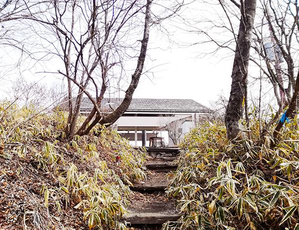 榛名富士山頂へ続く道