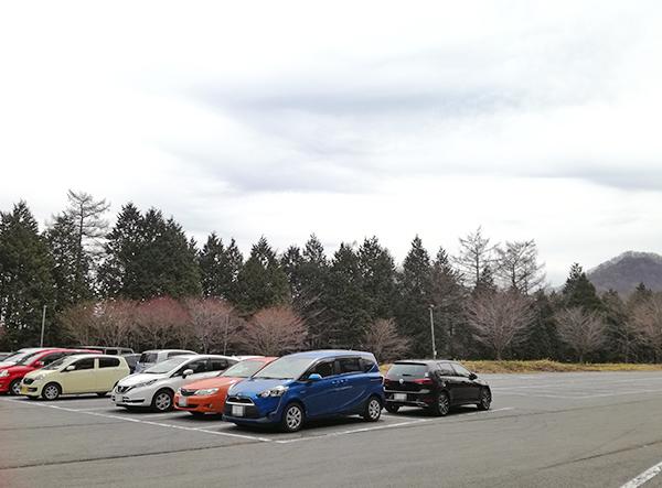 榛名湖の高崎市営無料駐車場