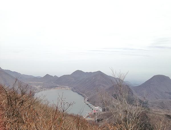 掃部ヶ岳山頂へ向かう道の風景