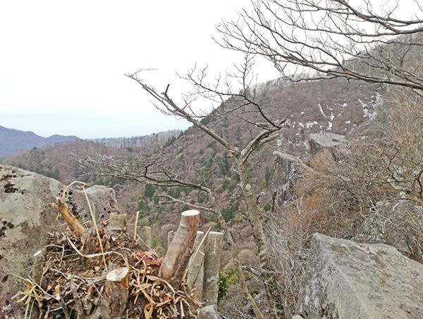 硯岩からの展望