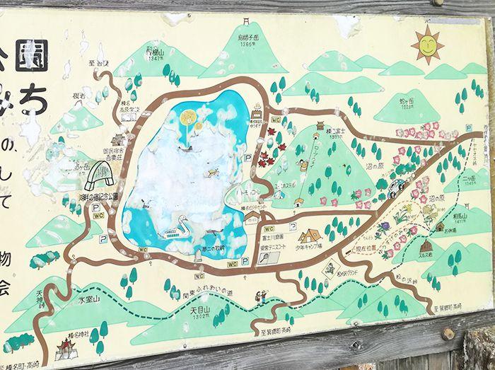 群馬県の相馬山の地図