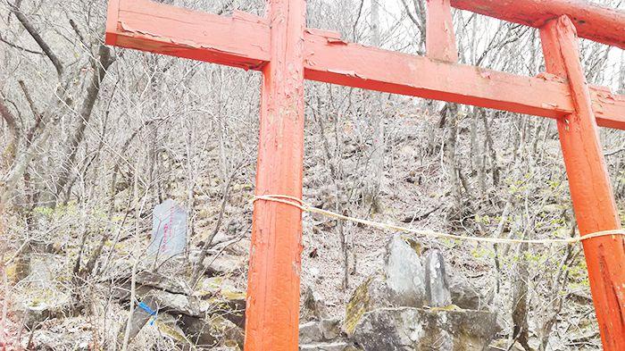 相馬山に向かう道の鳥居
