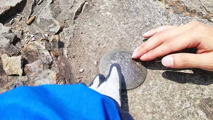 戸神山山頂の三角点