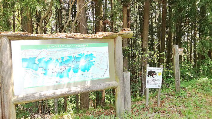 高王山の登山道にある地図看板