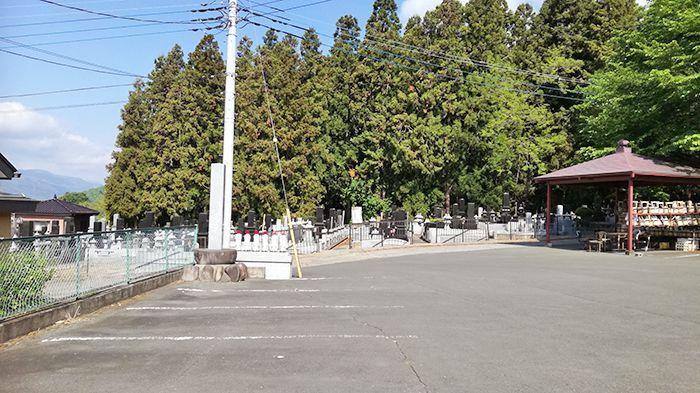 戸神山の清楽寺跡駐車場