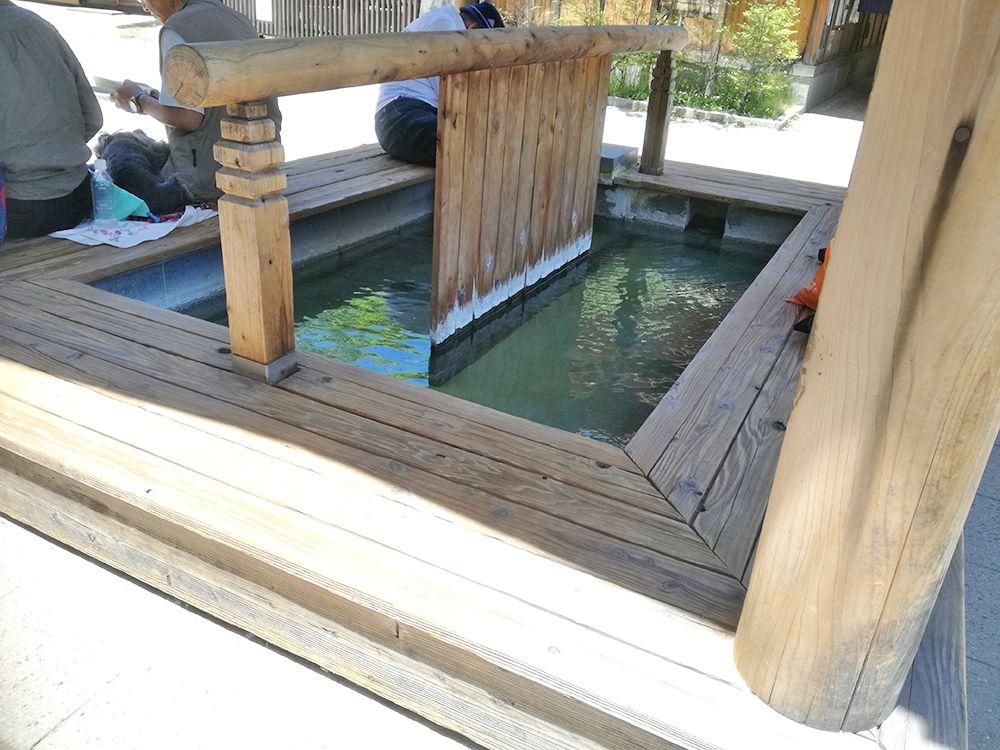 地蔵の湯の足湯