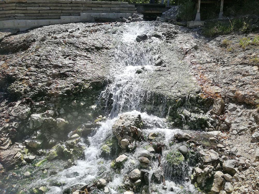 西の河原公園の足湯周辺