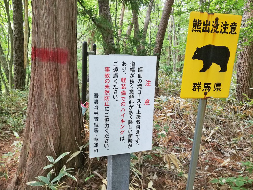 嫗仙の滝の自然遊歩道
