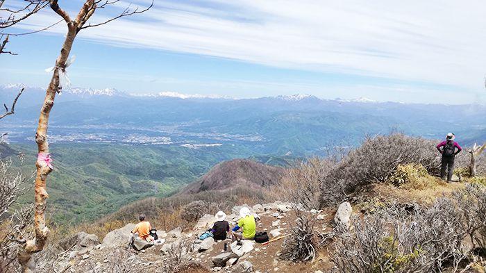 黒檜山の絶景スポットからの展望