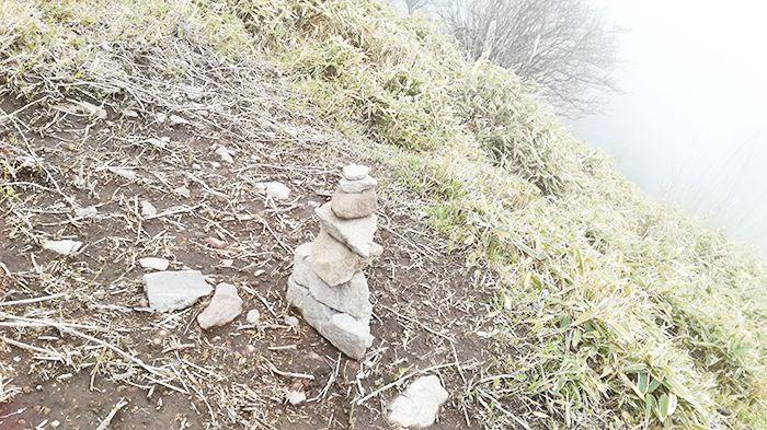駒ヶ岳登山道にあった石