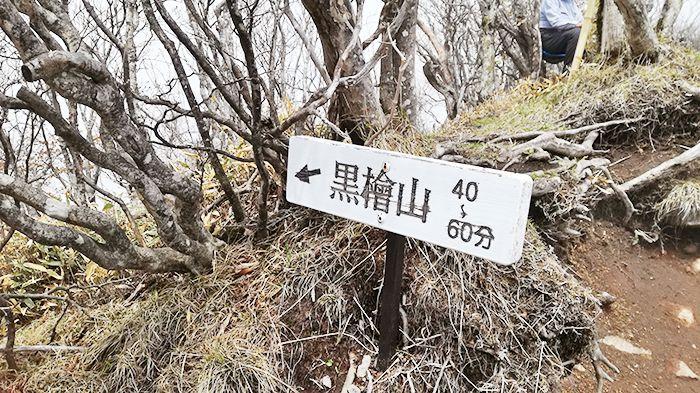 駒ヶ岳山頂の看板