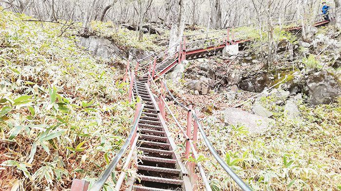 駒ヶ岳にある鉄階段