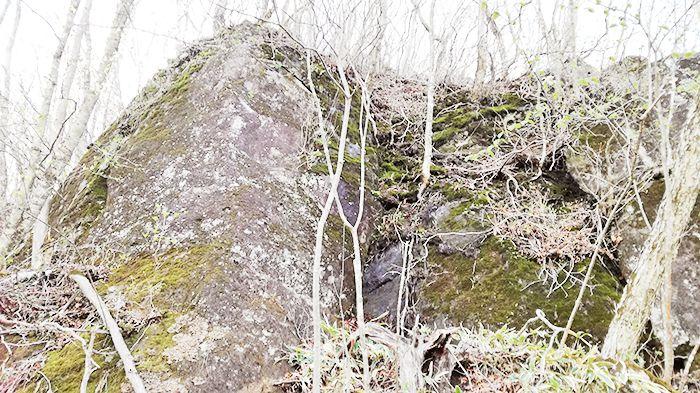 黒檜山登山道にある岩