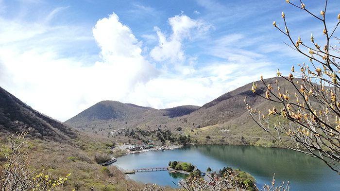 黒檜山登山道から見える景色