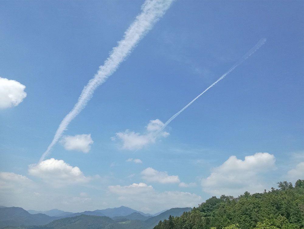 御嶽山の展望台からの風景