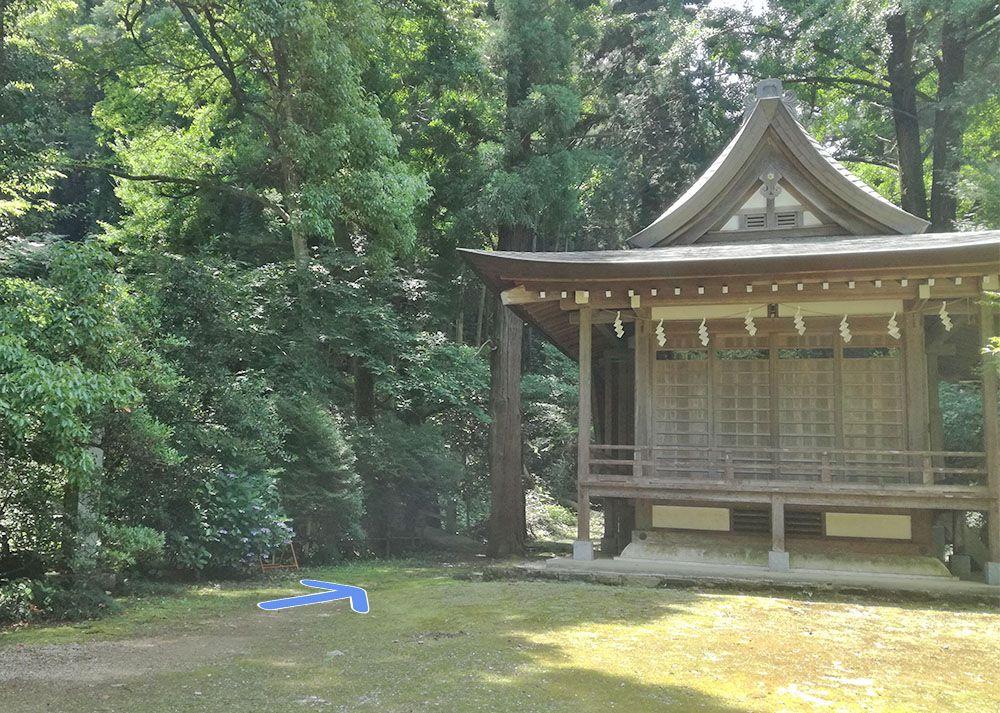 金鑚神社から駐車場への道