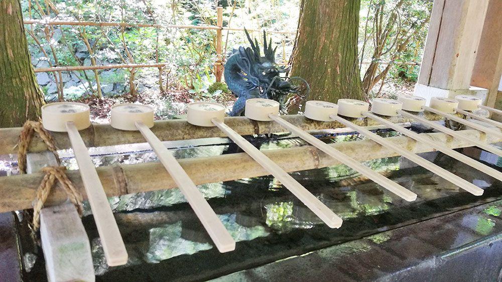 金鑚神社 手水場