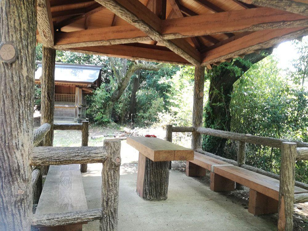 御嶽山 展望台周辺の休憩所