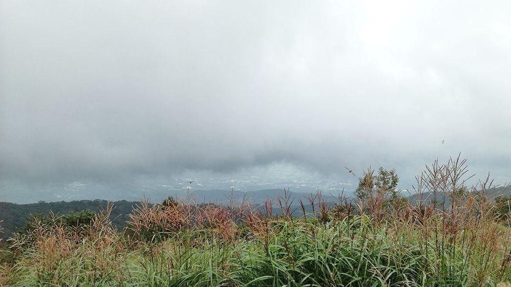 長七郎山から小沼までの道からの風景