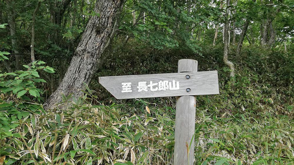 小沼の周りの道にある看板
