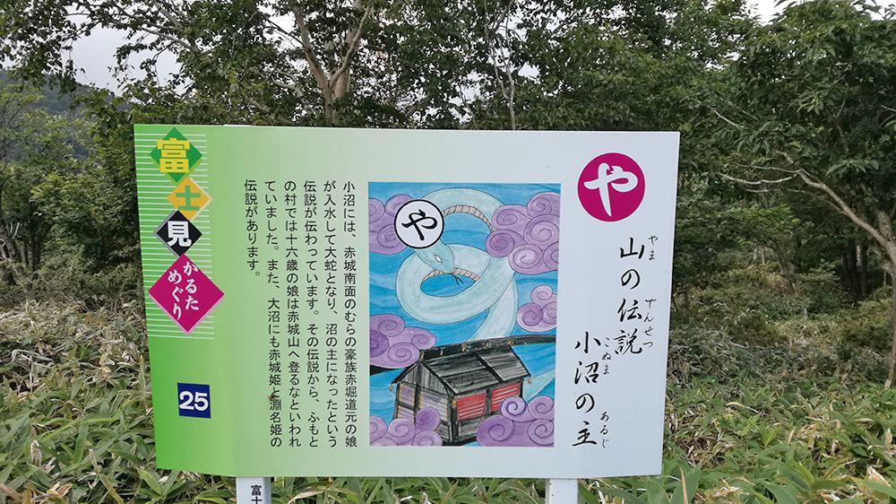長七郎山登山口にある看板