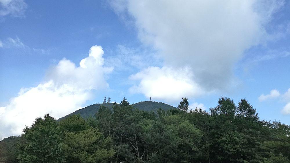 長七郎山登山道からの風景