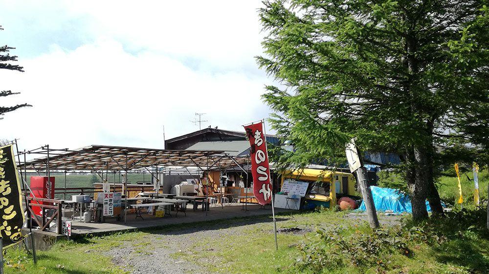 美ヶ原高原の山本小屋外売店