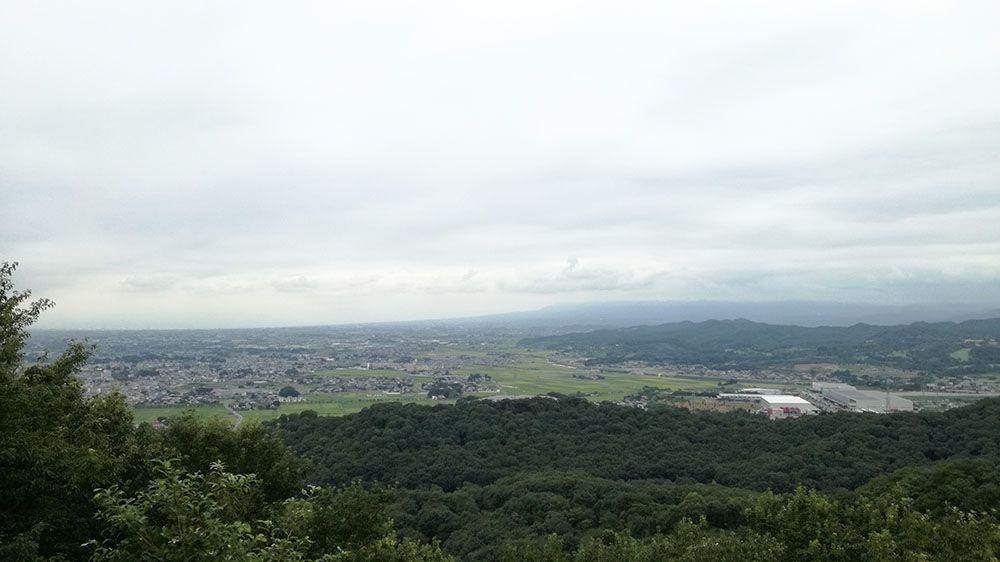 金山城跡の物見台からの景色