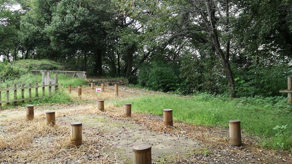 金山城跡の馬場曲輪