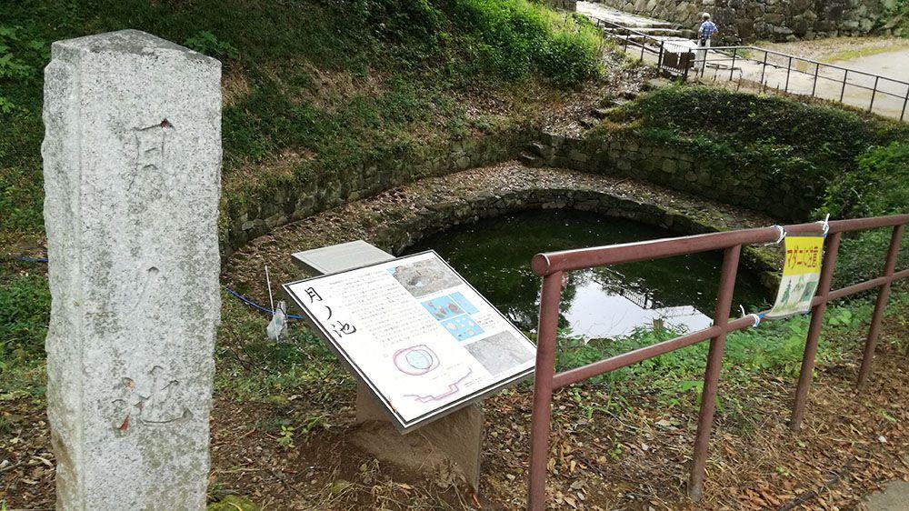 金山城跡の月ノ池