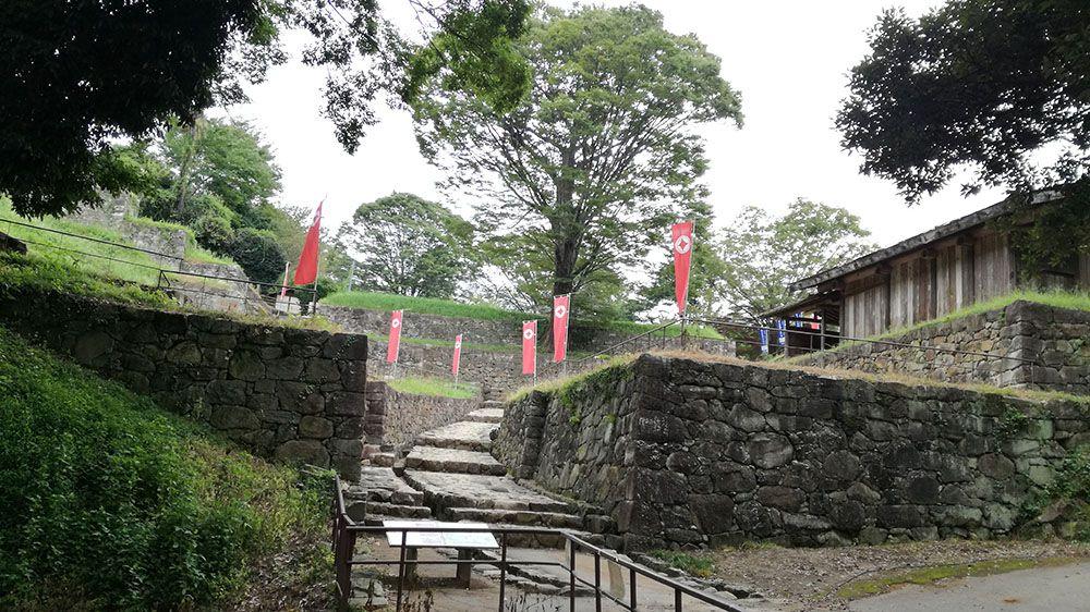 金山城跡の石垣