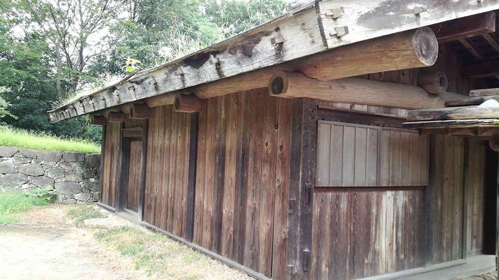 金山城跡の遺構展示施設