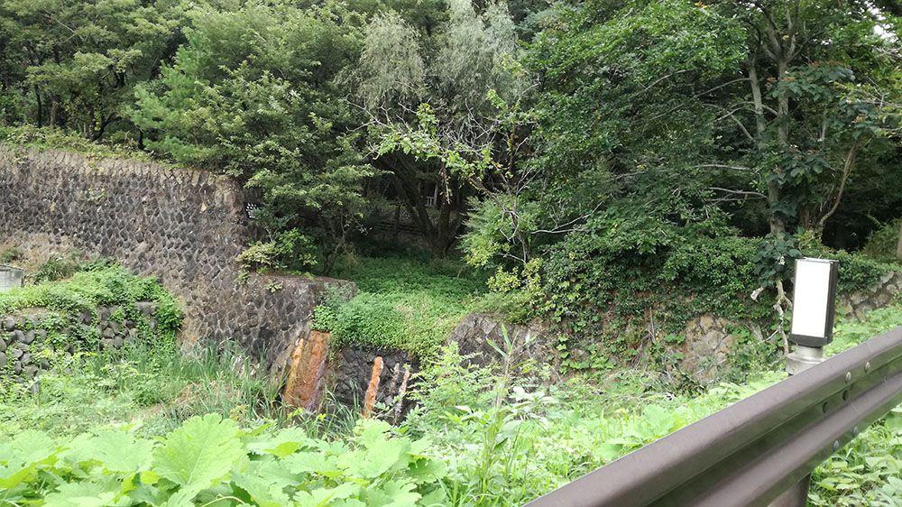 金山の東山公園駐車場から金山城跡ガイダンス施設までの道